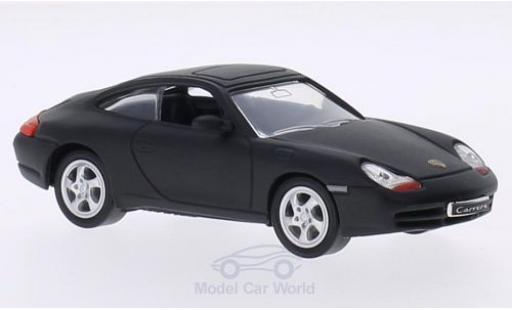 Porsche 911 1/43 Lucky Die Cast (996) Carrera matt-noire 1998 ohne Vitrine miniature