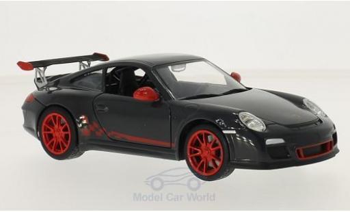 Porsche 997 SC 1/24 Lucky Die Cast (997II) GT3  dunkelgrise/rouge miniature
