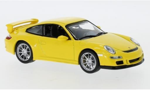 Porsche 997 GT3 1/43 Lucky Die Cast 911  yellow diecast model cars