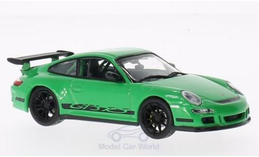 Porsche 997 GT3 RS 1/43 Lucky Die Cast Felgen u. Streifen black green diecast model cars
