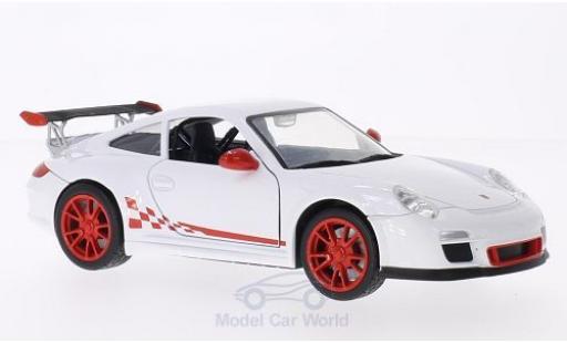 Porsche 997 GT3 RS 1/24 Lucky Die Cast Mark 2 Felgen u. Streifen rouge blanche miniature