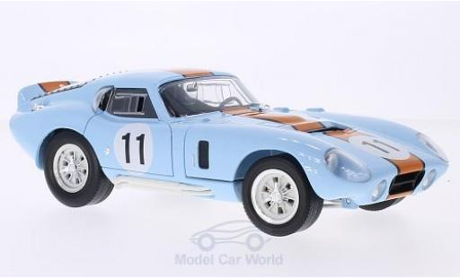 Shelby Cobra 1/18 Lucky Die Cast Daytona Coupe hellbleue/dunkelorange No.11 1965 miniature