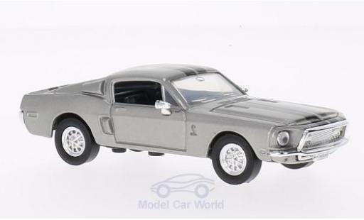 Shelby GT 500 1/43 Lucky Die Cast -KR mit noireen Streifen grise 1968 ohne Vitrine miniature
