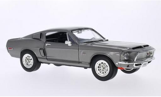 Shelby GT 1/18 Lucky Die Cast -500KR mit noireen Streifen metallise grise 1968 miniature