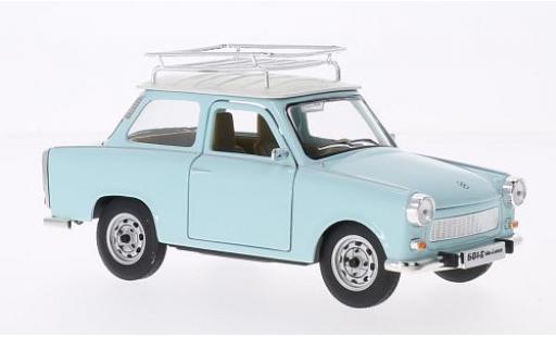 Trabant 601 1/24 Lucky Die Cast S Deluxe mit Dachgepäckträger bleue/blanche miniature