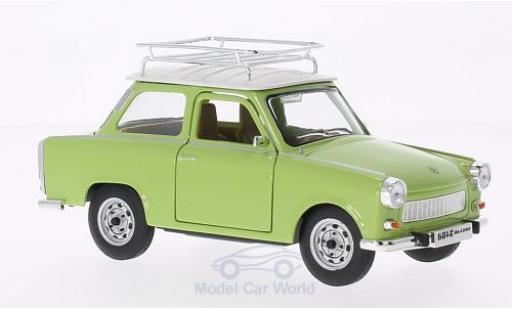 Trabant 601 1/18 Lucky Die Cast S Deluxe mit Dachgepäckträger verte/blanche miniature