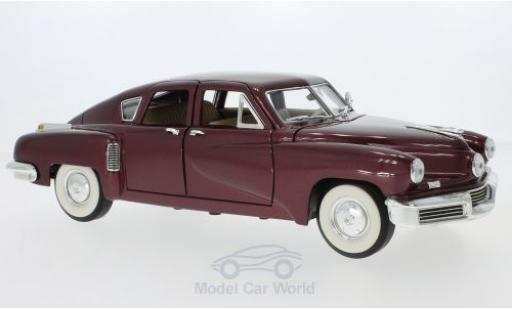 Tucker Torpedo 1/18 Lucky Die Cast metallise rouge 1948 miniature
