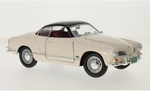 Volkswagen Karmann 1/18 Lucky Die Cast Ghia blanche/noire 1966