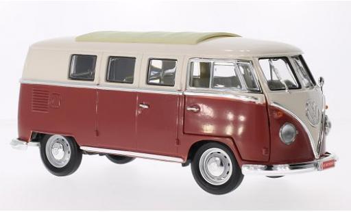 Volkswagen T1 1/18 Lucky Die Cast Microbus beige/rot 1962 modellautos
