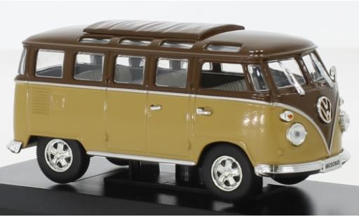 Volkswagen T1 1/43 Lucky Die Cast Samba marron/marron 1962