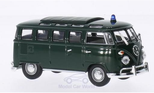 Volkswagen T1 B 1/43 Lucky Die Cast Samba Polizei green 1962 diecast model cars