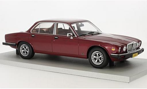 Jaguar XJ 1/18 Lucky Step Models 6 metallise red 1982 diecast model cars