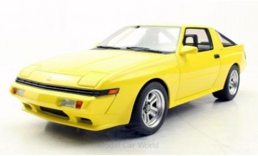 Mitsubishi Starion 1/18 Lucky Step Models yellow 1987 diecast model cars