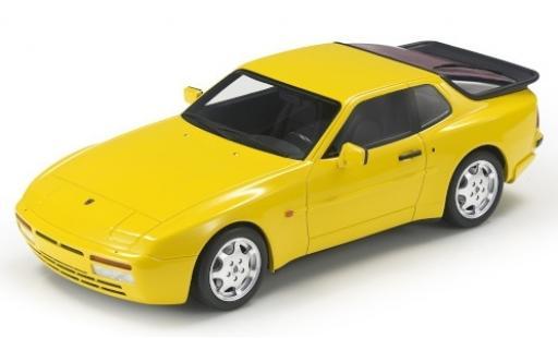 Porsche 944 1/18 Lucky Step Models Turbo S jaune miniature