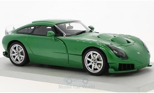 TVR Sagaris 1/18 Lucky Step Models metallise green RHD 2005 ohne Vitrine