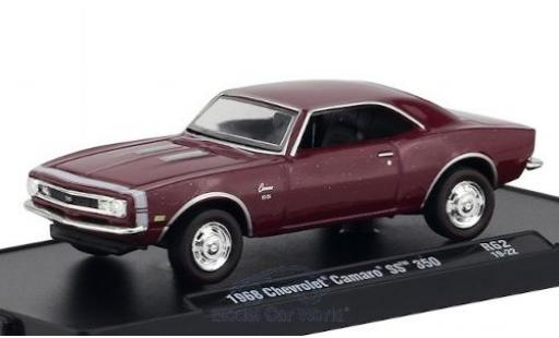 Chevrolet Camaro 1/64 M2 Machines SS 350 metallise rouge/blanche 1968 miniature