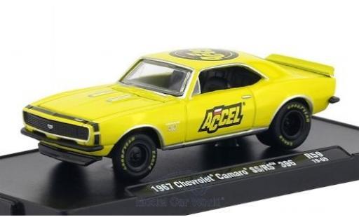 Chevrolet Camaro 1/64 M2 Machines SS/RS 396 yellow/black ACCEL 1967 diecast model cars