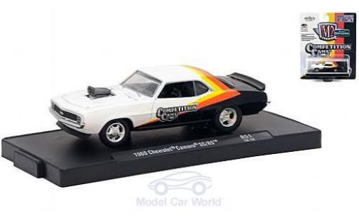 Chevrolet Camaro RS 1/64 M2 Machines  blanche/noire Competition Cams 1969 miniature