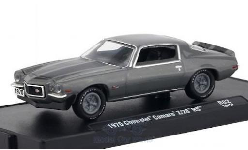 Chevrolet Camaro 1/64 M2 Machines Z/28 RS mettalic grau/schwarz 1970 modellautos