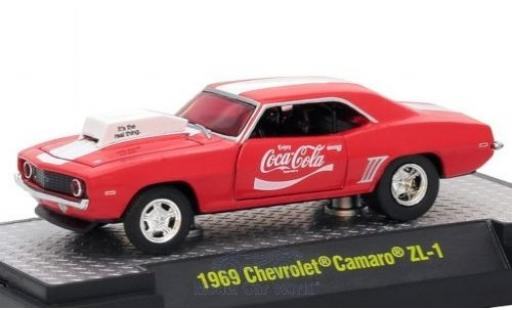 Chevrolet Camaro ZL1 1/64 M2 Machines rouge/blanche Coca Cola 1969 miniature