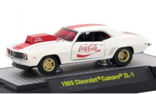 Chevrolet Camaro ZL1 1/64 M2 Machines ZL1 blanche/rouge Coca Cola 1969 miniature
