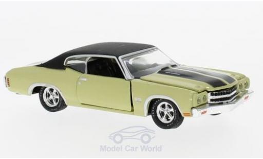 Chevrolet Chevelle 1970 1/64 M2 Machines SS 454 metallise verte/noire miniature