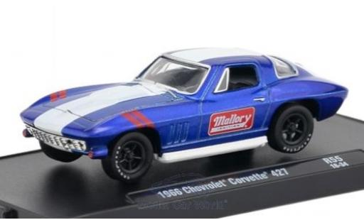 Chevrolet Corvette 1/64 M2 Machines 427 metallic blue/white 1966 diecast