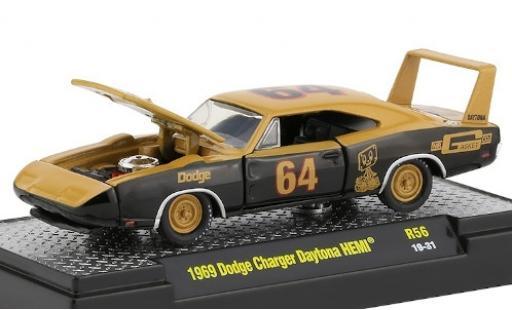 Dodge Charger 1/64 M2 Machines Daytona HEMI beige/noire Mr. Casket Co. 1968 No.64 miniature