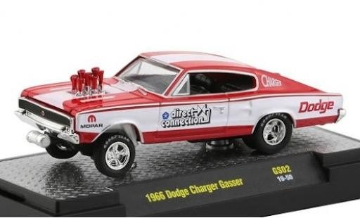 Dodge Charger 1/64 M2 Machines Gasser rouge/blanche Chrysler Direct Connection 1966 miniature