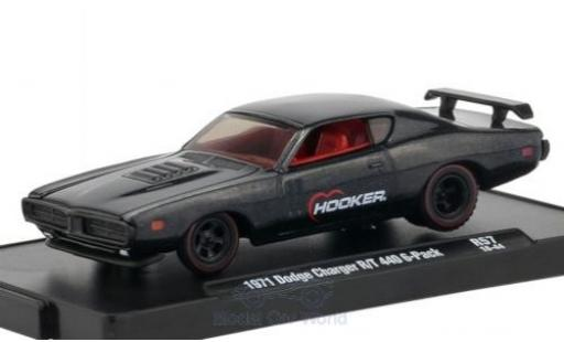 Dodge Charger 1/64 M2 Machines R/T 440 6-Pack metallise anthrazit Hooker 1971 diecast model cars