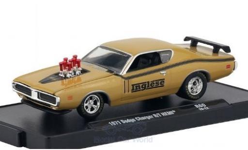 Dodge Charger 1/64 M2 Machines R/T HEMI beige/matt-noire Inglese 1971 miniature
