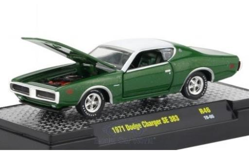 Dodge Charger 1/64 M2 Machines SE 383 green/white 1971 diecast