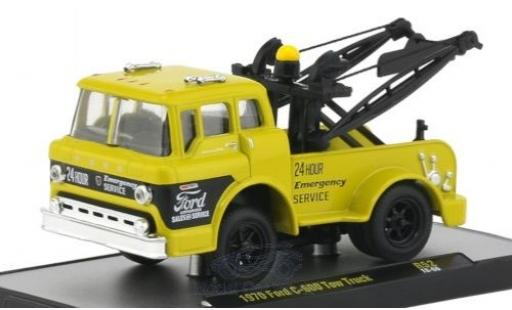 Ford C600 1/64 M2 Machines C-600 Tow Truck yellow/black 1970 diecast