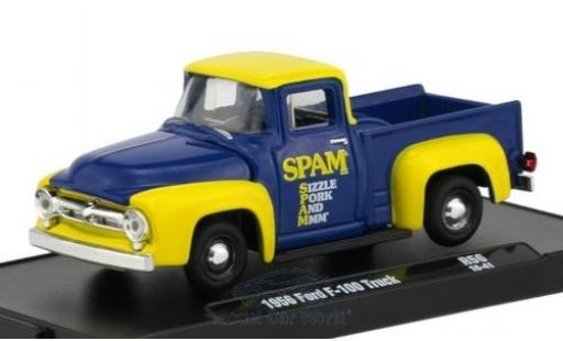 Ford F-1 1/64 M2 Machines 00 bleue/jaune 1956 miniature