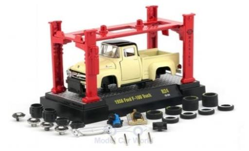 Ford F-1 1/64 M2 Machines 00 beige/noire 1956 Model-Kit Bausatz inklusive 4 Ersatzrädern miniature