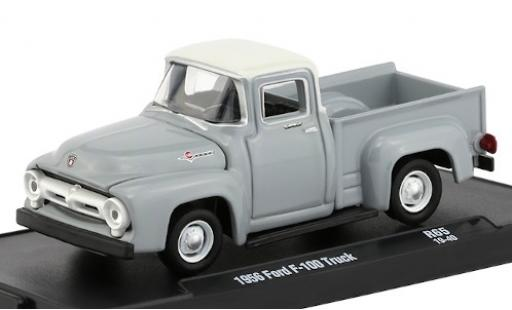 Ford F-1 1/64 M2 Machines 00 grise/blanche 1956 miniature