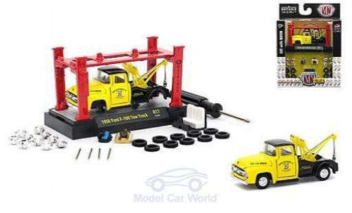 Ford F-1 1/64 M2 Machines 00 Tow Truck jaune/noire Moon Equipment Co. 1956 Model-Kit Bausatz inklusive 4 Ersatzrädern