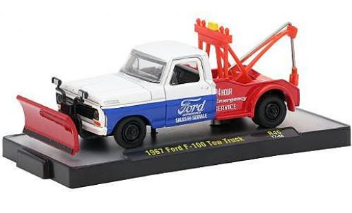 Ford F-1 1/64 M2 Machines 00 Tow Truck blanche/bleue Sales & Service 1967 miniature