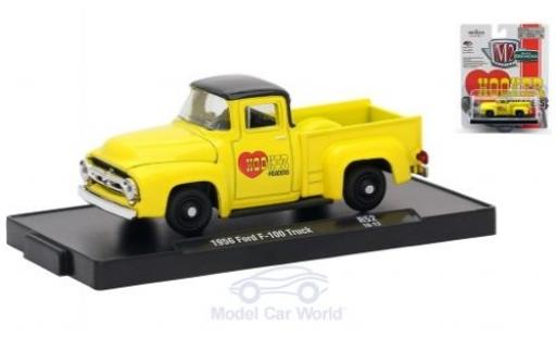 Ford F-1 1/64 M2 Machines 00 Truck jaune/noire Hooker Headers 1956 miniature