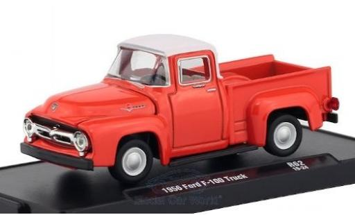 Ford F-1 1/64 M2 Machines 00 Truck rouge/blanche 1956 miniature