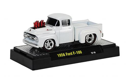 Ford F-100 1/64 M2 Machines F 100 Tuning blanche 1956 Ground Pounders miniature