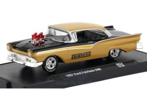 Ford Fairlane 1957 1/64 M2 Machines 500 dunkelbeige/black 1957 diecast