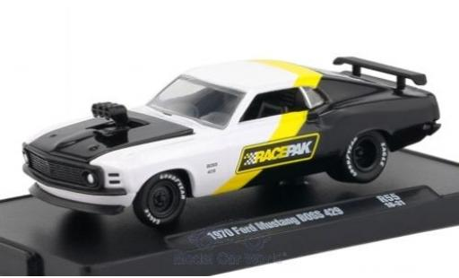 Ford Mustang 1970 1/64 M2 Machines Boss 429 blanche/noire miniature
