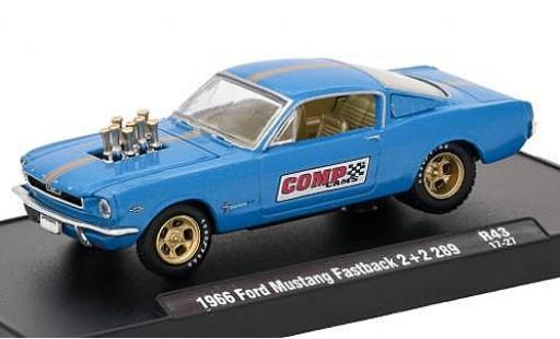 Ford Mustang 1/64 M2 Machines Fastback 2 + 2 289 metallise bleue Comp Cams 1966 voiture-Drivers Release 43 sans Vitrine miniature