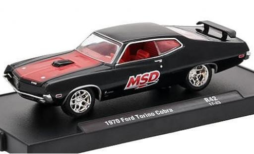 Ford Torino 1/64 M2 Machines Cobra noire/rouge MSD 1970 voiture-Drivers Release 42 sans Vitrine miniature
