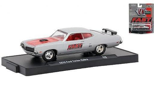 Ford Torino 1/64 M2 Machines Cobra grise/rouge FAST (Fuel Air Spark Technology) 1970 miniature