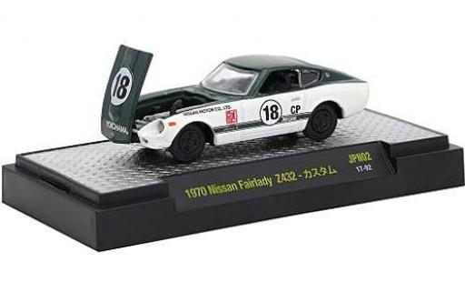 Nissan Fairlady Z 1/64 M2 Machines 432 metallise verte/blanche RHD 1970 Nr.18 miniature