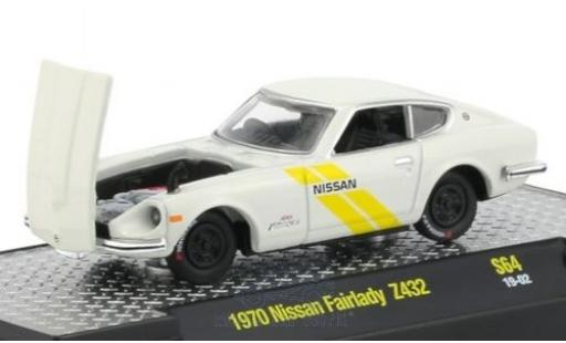 Nissan Fairlady Z 1/64 M2 Machines 432 blanche/Dekor RHD 1970 miniature