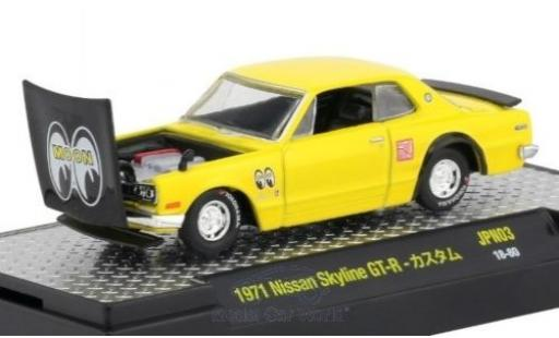 Nissan Skyline 1/64 M2 Machines GT-R giallo/nero 1971 miniatura