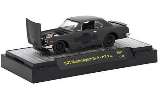 Nissan Skyline 1/64 M2 Machines GT-R matt-schwarz RHD 1971 modellautos